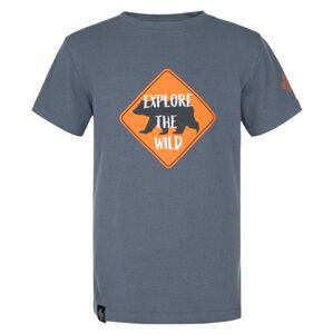 Chlapecké bavlněné tričko kilpi salo-jb tmavě modrá 86