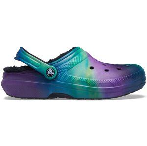 Dámké boty crocs classic lined černá/fialová 37-38