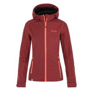 Dámská softshellová bunda kilpi campo-w tmavě červená 42