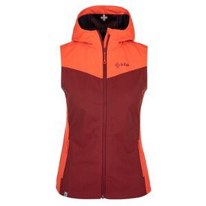 Dámská softshellová vesta kilpi cortina-w tmavě červená 44