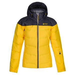 Dámská zimní péřová bunda kilpi buffy-w žlutá 48
