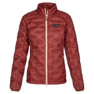 Dámská zimní péřová bunda kilpi papilon-w tmavě červená 36