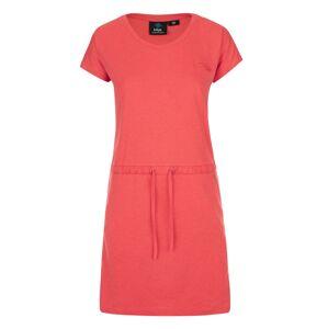 Dámské bavlněné šaty kilpi raisha-w korálová 36
