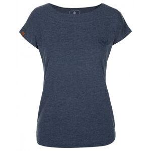 Dámské bavlněné tričko kilpi nellim-w tmavě modrá 42