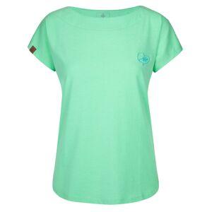 Dámské bavlněné tričko kilpi nellim-w tyrkysová 36