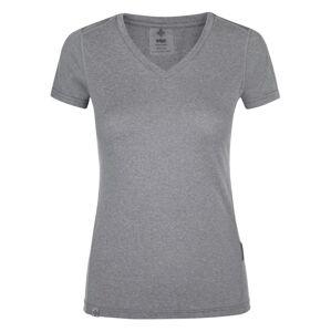 Dámské běžecké tričko kilpi dimel-w světle šedá 44