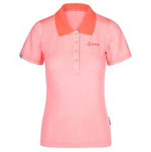 Dámské funkční polo tričko kilpi collar-w světle růžová 46