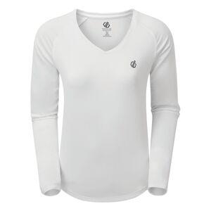 Dámské funkční tričko dare2b discern bílá 36