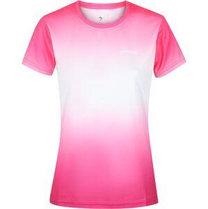 Dámské funkční tričko regatta fingal v bílá/růžová 42