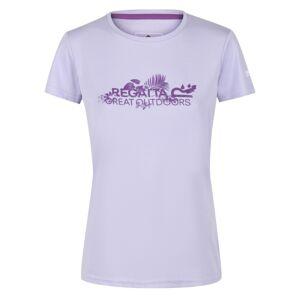 Dámské funkční tričko regatta fingal v fialová 42