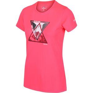 Dámské funkční tričko regatta fingal v neonově růžová 42
