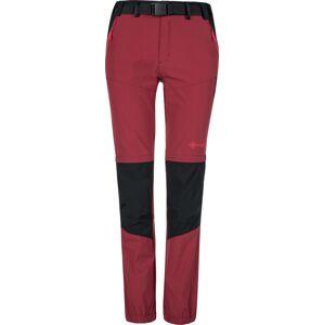 Dámské outdoorové kalhoty kilpi hosio-w tmavě červená  40