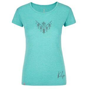Dámské outdoorové tričko kilpi garove-w tyrkysová 42