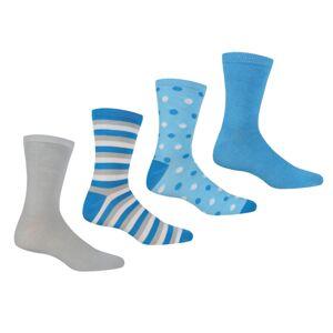 Dámské ponožky regatta lifestyle modrá/šedá 39-42
