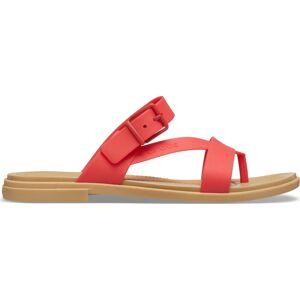 Dámské sandále crocs tulum  toe sandal červená 41-42