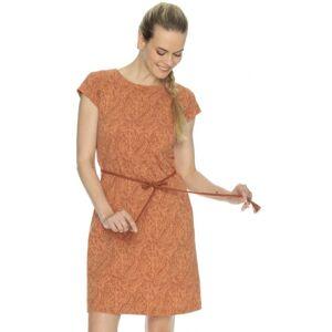Dámské šaty bushman caressa oranžová xxl