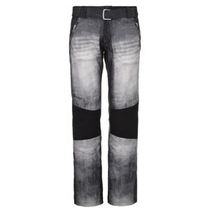 Dámské zimní softshellové kalhoty kilpi jeanso-w černá 40s