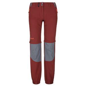 Dámské technické outdoorové kalhoty kilpi hosio-w tmavě červená 38