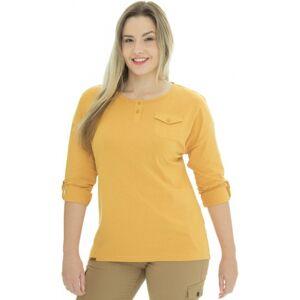 Dámské tričko bushman laurra žlutá xxl