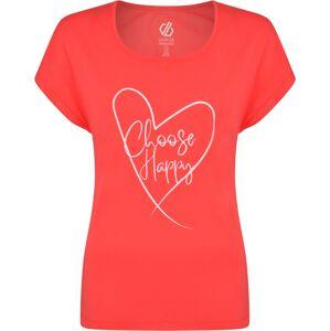 Dámské tričko dare2b evince tee korálově oranžová 38