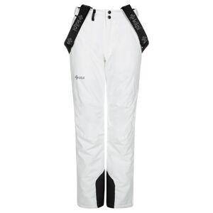 Dámské zimní lyžařské kalhoty kilpi elare-w bílá 52