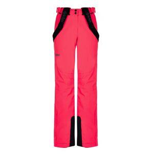Dámské zimní lyžařské kalhoty kilpi elare-w růžová 36