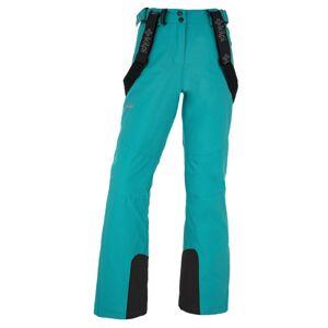 Dámské zimní lyžařské kalhoty kilpi elare-w tyrkysová   44