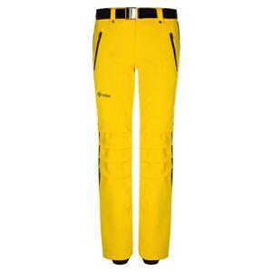 Dámské zimní lyžařské kalhoty kilpi hanzo-w žlutá 38