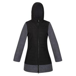Dámský prošívaný kabát regatta alivia černá/šedá 36