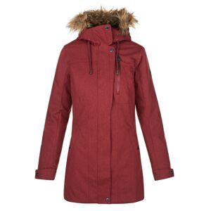 Dámský zimní kabát kilpi peru-w tmavě červená 40