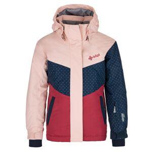 Dětská zimní bunda kilpi mils-jg světle růžová 122_128