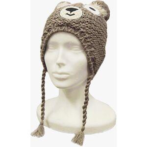 Dětská zimní čepice capu d4011 hnědá