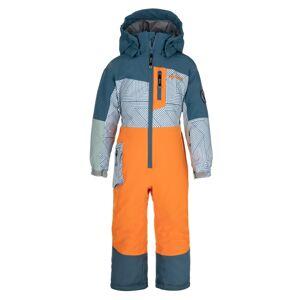 Dětská zimní kombinéza kilpi pontino-jb oranžová 122_128