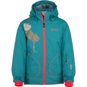 Dětská zimní lyžařská bunda kilpi cindy-jg tyrkysová   110_116