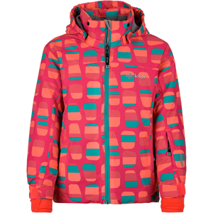 Dětská zimní lyžařská bunda kilpi genovesa-jg tmavě růžová   98_104