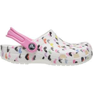 Dětské boty crocs classic heart bílá/růžová 27-28