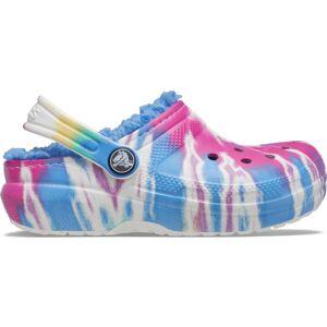 Dětské boty crocs classic lined tie dye modrá 32-33
