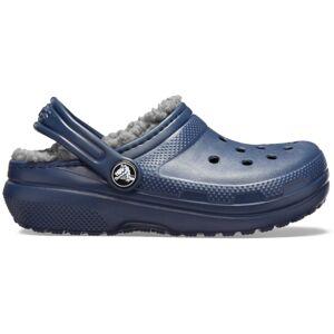 Dětské boty crocs classic lined tmavě modrá/šedá 32-33