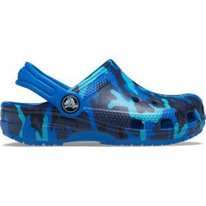 Dětské boty crocs classic printed modrá 27-28