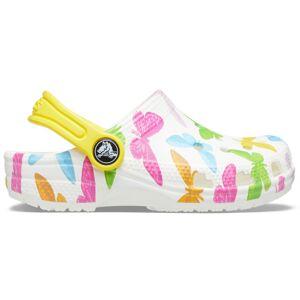 Dětské boty crocs classic vacay bílá/žlutá 27-28