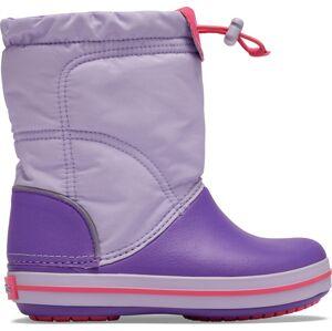 Dětské boty crocs crocband lodgepoint boot k fialová 24-25