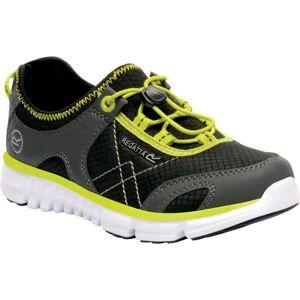 Dětské boty regatta platipus ii jnr černá/zelená 35