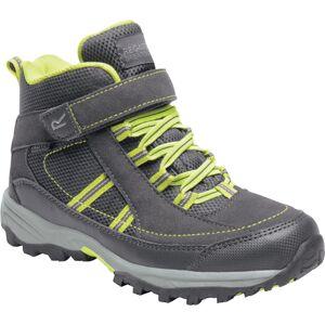 Dětské boty regatta trailspace ii mid šedá/zelená 34