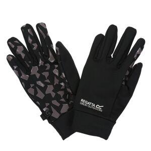 Dětské strečového rukavice regatta grippy černá/šedá 7-10