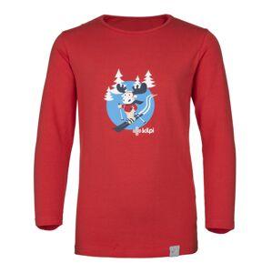 Dětské tričko kilpi lero-j červená 98_104