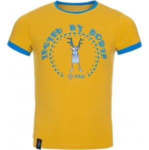 Dětské tričko kilpi mercy-jb žlutá 110_116