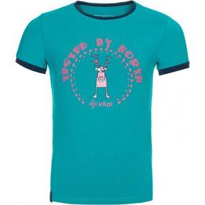 Dětské tričko kilpi mercy-jg tyrkysová 98_104