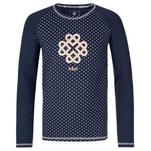 Dětské tričko kilpi vanila-jg tmavě modrá 122_128
