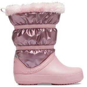 Dětské zimní boty crocs crocband lodgepoint metallic boot růžová 37-38