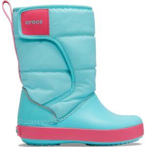 Dětské zimní boty crocs lodgepoint snow boot k modrá/růžová 25-26